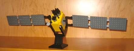 My son made this for me. Contact me if you would like instructions to make your own LEGO-GPS satellite.